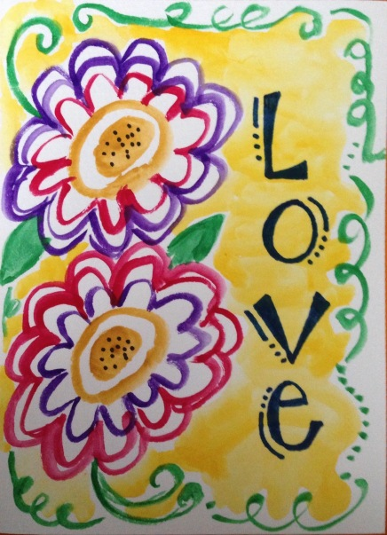 Love Mother's Day greeting card