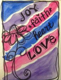 Joy-Faith-Love greeting card