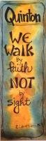 Walk by Faith bookmark