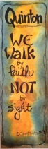 Walk by Faith bookmark